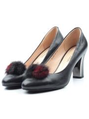 YF139-100 BLACK Туфли женские (натуральная кожа)