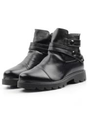 7975 BLACK Ботинки женские (натуральная кожа, байка)