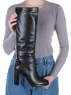 X655-G1519RM N8101 BLACK Сапоги зимние женские (натуральная кожа, натуральный мех (еврозима))