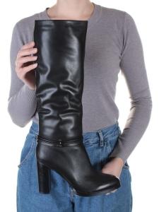 X655-R159RM N8101 BLACK Сапоги зимние женские (натуральная кожа, натуральный мех (еврозима))