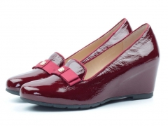 B1435-A400 WINE/RED Туфли женские (натуральная кожа)
