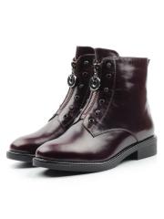 XH-FT285-906-1M PURPLE Ботинки женские (натуральная кожа, натуральный мех)