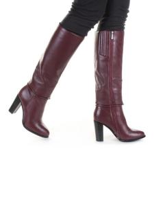 K6-A4 WINE/RED Сапоги зимние женские (натуральная кожа, натуральный мех (еврозима))