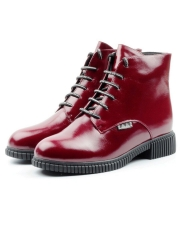 XH-BT525-501-4M RED Ботинки женские (натуральная кожа, натуральный мех)
