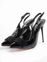 V-726 BLACK Туфли женские (натуральная кожа)