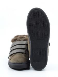 MM75-2 GREEN Ботинки зимние женские (натуральная замша, нат.мех)