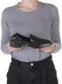 N18120S-1 BLACK Полуботинки женские (натуральная кожа)