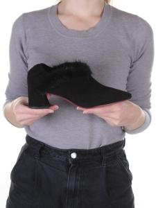 N1891S-2 BLACK Туфли женские (натуральная замша)
