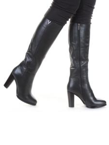 K47-D1 BLACK Сапоги зимние женские (натуральная кожа, натуральный мех (еврозима))