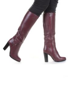 K48-A4 WINE RED Сапоги зимние женские (натуральная кожа, натуральный мех (еврозима))