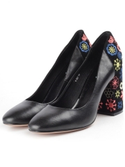 V-527 BLACK Туфли женские (натуральная кожа, натуральная замша)