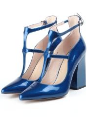 V-815 BLUE Туфли женские (натуральная кожа)