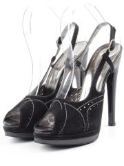 2862 BLACK Туфли женские (натуральная замша)