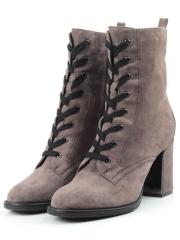 ALIMPA2-3-6 GREY Ботинок женские (натуральная замша, байка)