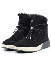 M911 BLACK Ботинки зимние женские (натуральная замша, искусственный мех)