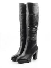 M18-393 N969 BLACK Сапоги зимние женские (натуральная кожа, натуральный мех (еврозима))