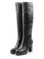 M18-395 W810 BLACK Сапоги зимние женские (натуральная кожа, натуральный мех (еврозима))