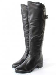 932-20M-1 BLACK Сапоги женские (натуральная кожа, натуральный мех)