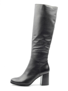K82-D1 BLACK Сапоги зимние женские (натуральная кожа, натуральный мех (еврозима))