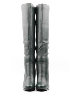 K80-A13 GREEN Сапоги зимние женские (натуральная кожа, натуральный мех (еврозима))