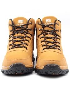 A1146-6 BROWN Ботинки зимние мужские (искусственная кожа, искусственный мех)