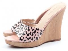 F113-204 Pink and Black Сабо женские (натуральная кожа)