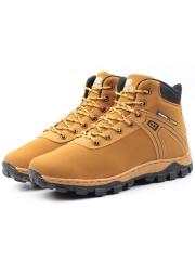 A1190-6 BROWN Ботинки зимние мужские (искусственная кожа, искусственный мех)