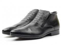 80025AA Ботинки мужские (натуральная кожа, натуральный мех)