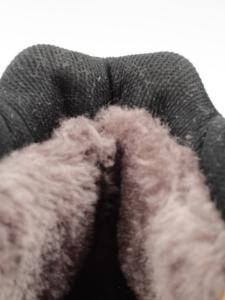 A1186-6 BROWN Ботинки зимние мужские (искусственная кожа, искусственный мех)