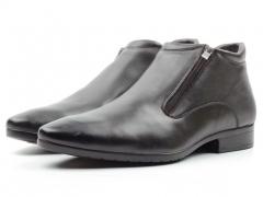 80032AA Ботинки мужские (натуральная кожа, натуральный мех)