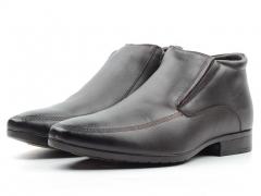 80037AA Ботинки мужские (натуральная кожа, натуральный мех)