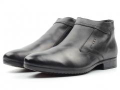 80005AA Ботинки мужские (натуральная кожа, натуральный мех)