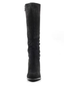 X8199-G161RM C130 BLACK Сапоги зимние женские (натуральная замша, натуральный мех (еврозима))