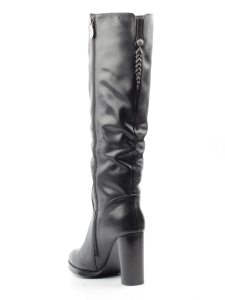 X858-MX163RM BLACK Сапоги зимние женские (натуральная кожа, натуральный мех (еврозима))