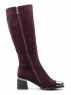 M20-3003 WINE RED Сапоги зимние женские (натуральная замша, натуральный мех (еврозима))