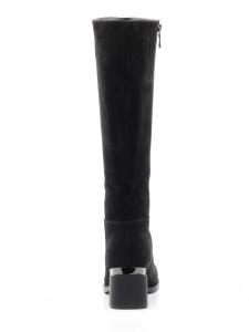 M20-3002 BLACK Сапоги зимние женские (натуральная замша, натуральный мех (еврозима))