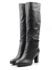 MX52F-G162RM BLACK Сапоги зимние женские (натуральная кожа, натуральный мех (еврозима))