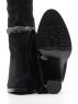 X858-G153RM C15 BLACK Сапоги зимние женские (натуральная замша, натуральный мех (еврозима))