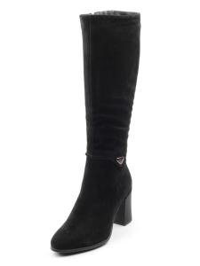 XG713-G151RM C15 BLACK Сапоги зимние женские (натуральная замша, натуральный мех (еврозима))