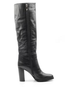 X858-G162RM BLACK Сапоги зимние женские (натуральная кожа, натуральный мех (еврозима))
