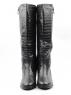 M94-1699RM N808 BLACK Сапоги зимние женские (натуральная кожа, натуральный мех (еврозима))