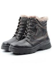 B8296B Ботинки зимние мужские (натуральная и искусственная кожа, иск. мех)