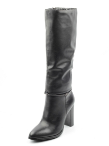 K6-A1 BLACK Сапоги зимние женские (натуральная кожа, натуральный мех (еврозима))