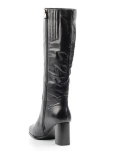 K91-D1 BLACK Сапоги зимние женские (натуральная кожа, натуральный мех (еврозима))