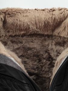 K83-D1 BLACK Сапоги зимние женские (натуральная кожа, натуральный мех (еврозима))
