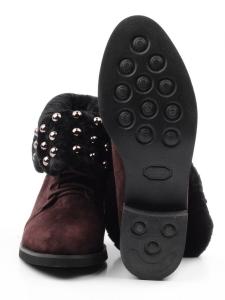 2265-B503M-Y1138 BROWN Ботинки женские (натуральная замша, нат.мех)