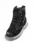 9-89 BLACK Ботинки женские (натуральная замша, искусственный мех)