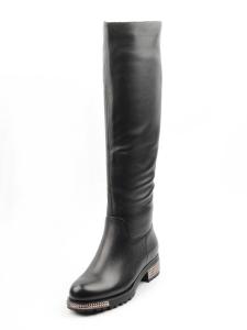 K65-A1 BLACK Сапоги зимние женские (натуральная кожа, натуральный мех (еврозима))