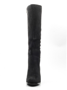K82-B1 BLACK Сапоги зимние женские (натуральная замша, натуральный мех (евромех))
