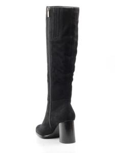 K83-B1 BLACK Сапоги зимние женские (натуральная замша, натуральный мех (евромех))